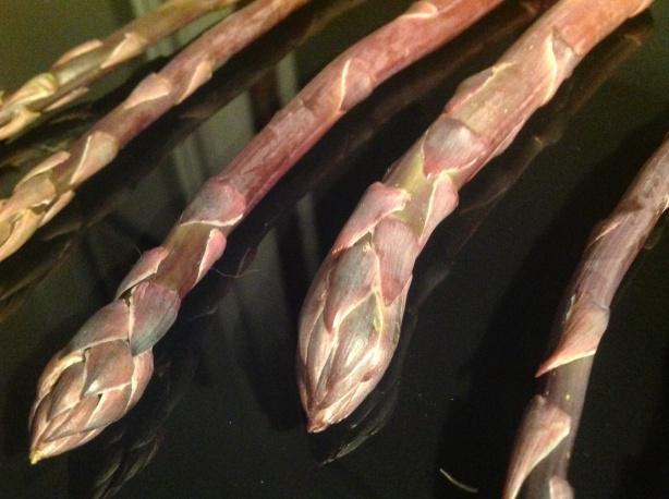 my asparagus is purple.